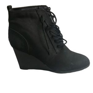 Wedge Lace Up Booties by Forever21 Size 8